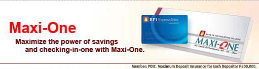 Maxi-One checking account from BPI Direct Savings Bank
