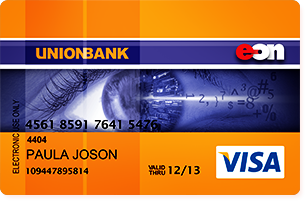 EON Visa Debit Card issued by UnionBank of the Philippines (UBP)