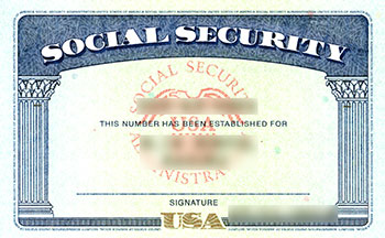 Social Security card issued by the Social Security Administration (SSA)