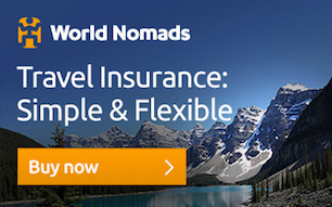 Buy travel insurance from World Nomads