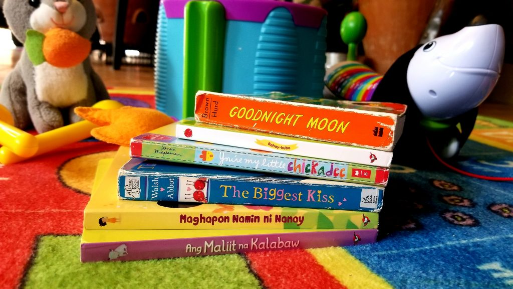 English and Filipino board books for toddlers and preschoolers